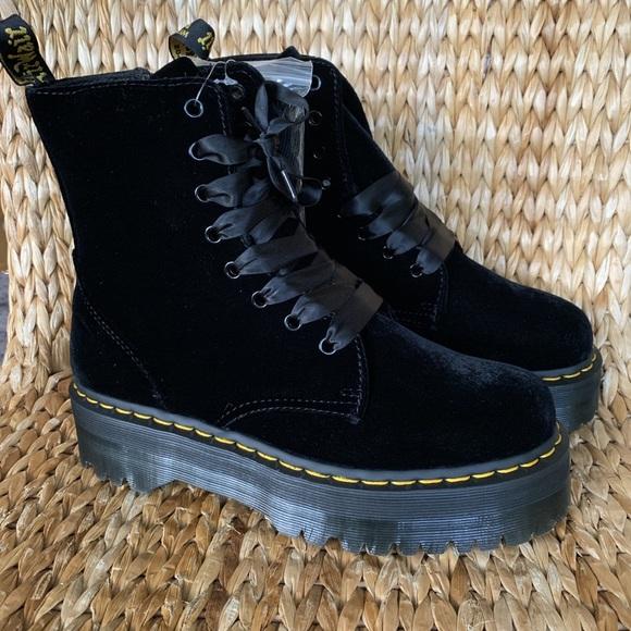 buy popular top fashion outlet boutique NIB Black Velvet Jadon Dr. Martens UK 7